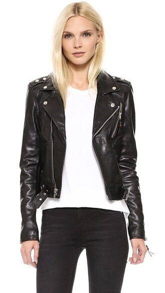 jacket leather jacket leather black