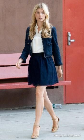 clemence poesy blue skirt