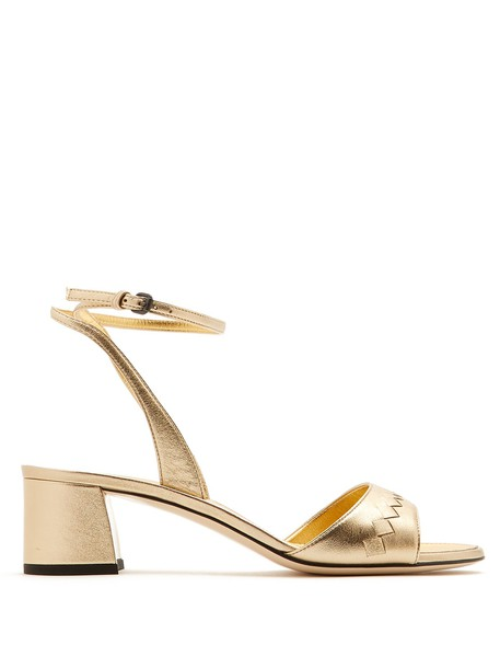 Bottega Veneta sandals leather sandals leather gold shoes