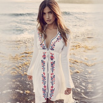 dress hawaiian hippie hippie chic retro dress beach dress linen dress embroidered dress rocky barnes high low dress coachella trendy trending dress