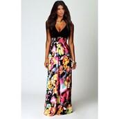 dress,floral,floral dress,floral bikini,deep v-neck dress,plunge v neck,deep v neck top,sleeveless dress,sleeveless wedding dresses,printed dress,princess dress