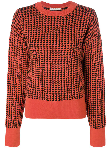 MARNI jumper women wool yellow orange sweater