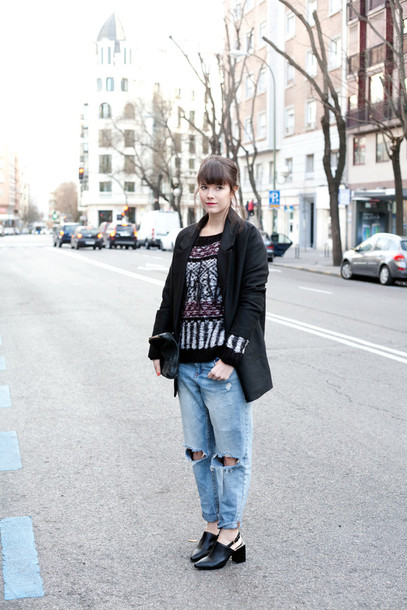 che cosa blogger jacket sweater jeans shoes bag
