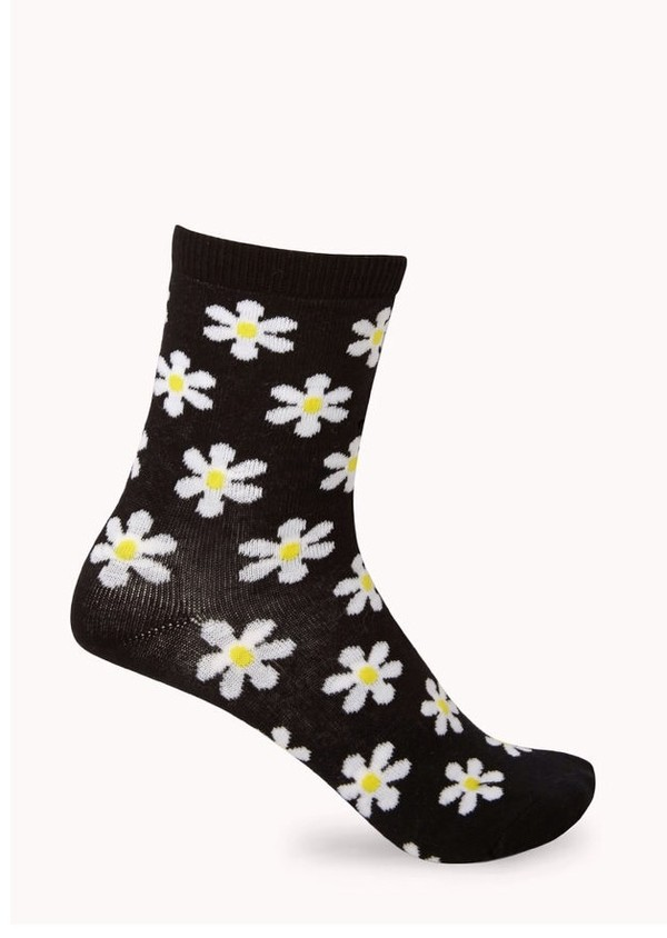 jewels socks daisy print underwear