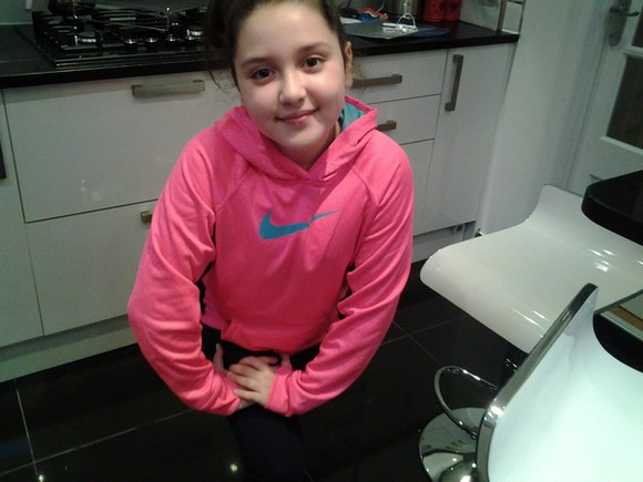 bright pink nike sweater bright blue