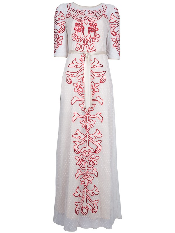 dress alice by temperley long dress long 'florida' dress
