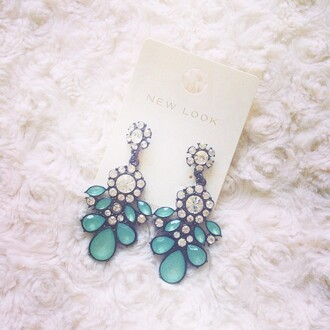 jewels earrings new look blue and white