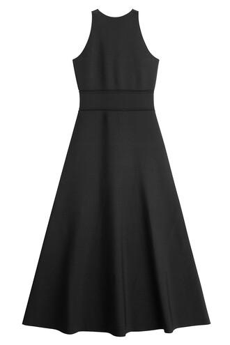 dress knit cut-out black