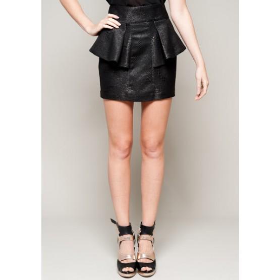 Black Peplum Skirt | Whiskey | Forever Unique Selfish | Online Boutique For Women