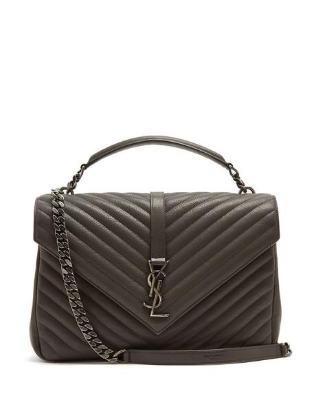 Saint Laurent quilted bag shoulder bag leather dark grey