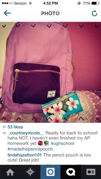 bag backpack purple light purple dark purple back to school pack herschel supply co.
