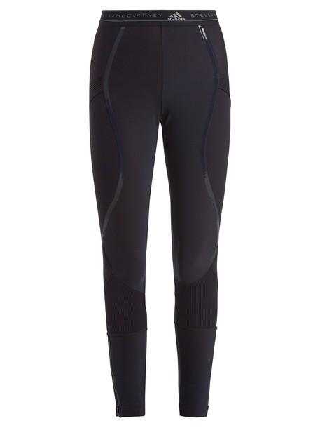 ADIDAS BY STELLA MCCARTNEY leggings run knit dark blue dark blue pants