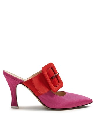 mules pink shoes