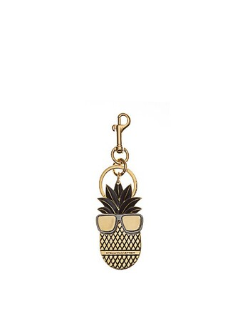 pineapple ring gold black jewels