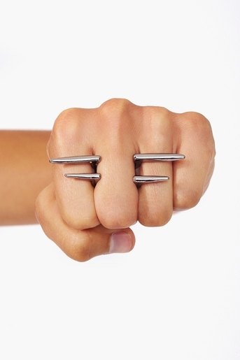 Pierced Spike Ring in  Collections July Lookbook at Nasty Gal