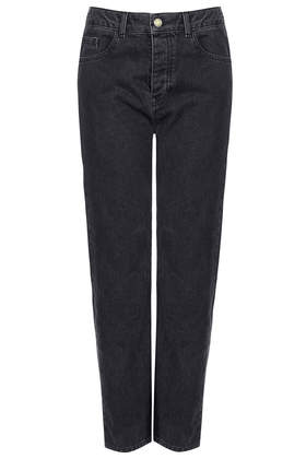MOTO Black Wash Girlfriend Jeans - Girlfriend Jeans - Jeans - Clothing- Topshop
