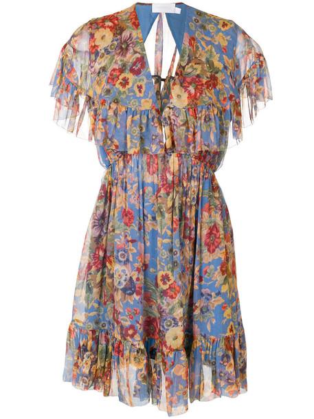 Zimmermann dress floral dress women floral silk