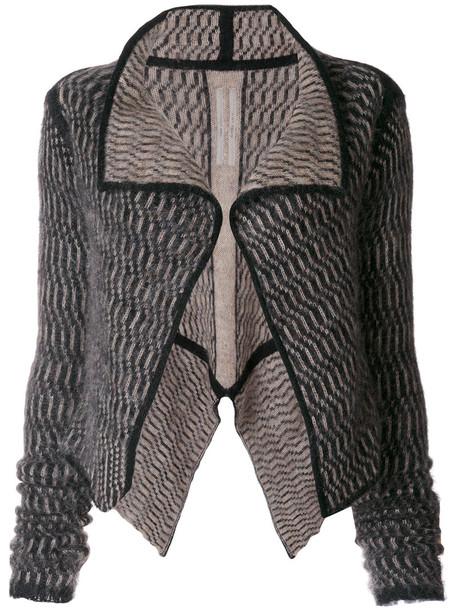 Rick Owens cardigan cardigan open women mohair black sweater