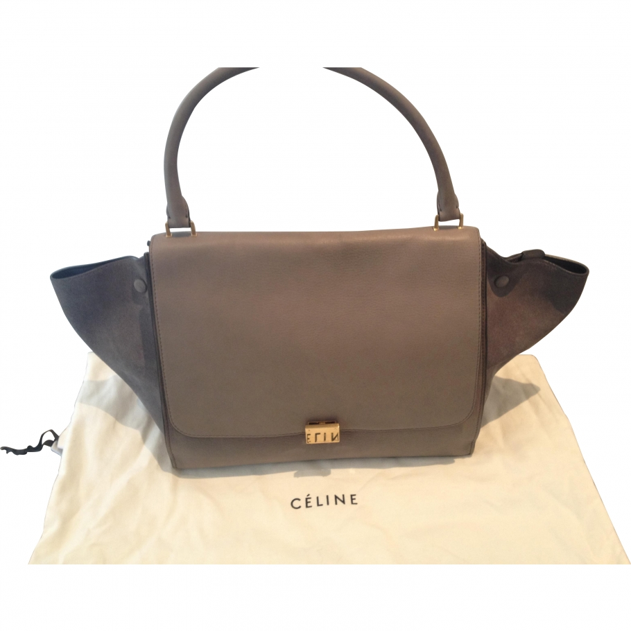 Trapeze CELINE Grey in Leather All seasons - 791677