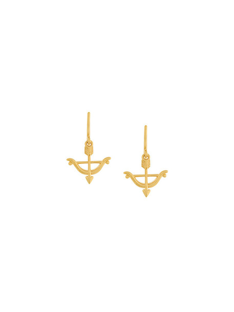 Astley Clarke bow arrow women earrings gold grey metallic jewels
