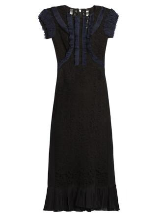 dress lace navy black