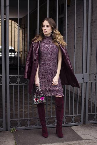at fashion forte blogger coat dress jewels bag shoes