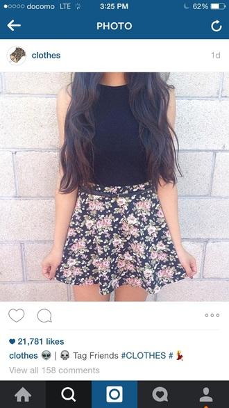 skirt flowers skirt