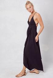 dress,lovestitch,sexy,black,cotton,classic,effortless,chic,open back,v neck dress,elegant