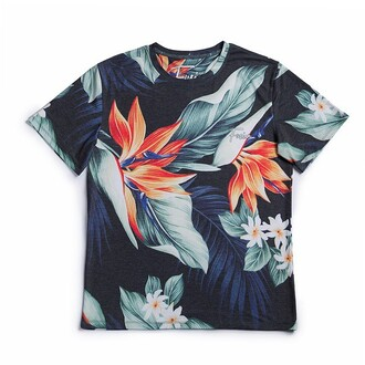 t-shirt print floral flowers fusion printed t-shirt