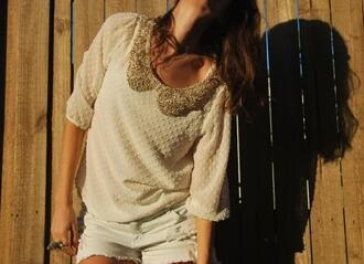 blouse peter pan collar