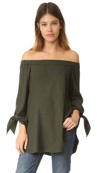 tunic green top