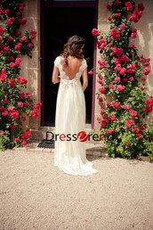 dress,wedding dress,wedding,lace dress,lace wedding dress,white,lace,long,open back lace wedding dress,long simple wedding dress,lace bridal gown,white dress