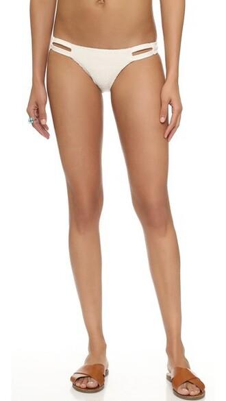 bikini bikini bottoms hipster bikini hipster mesh creme swimwear