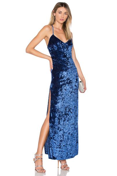 NBD dress maxi dress maxi blue