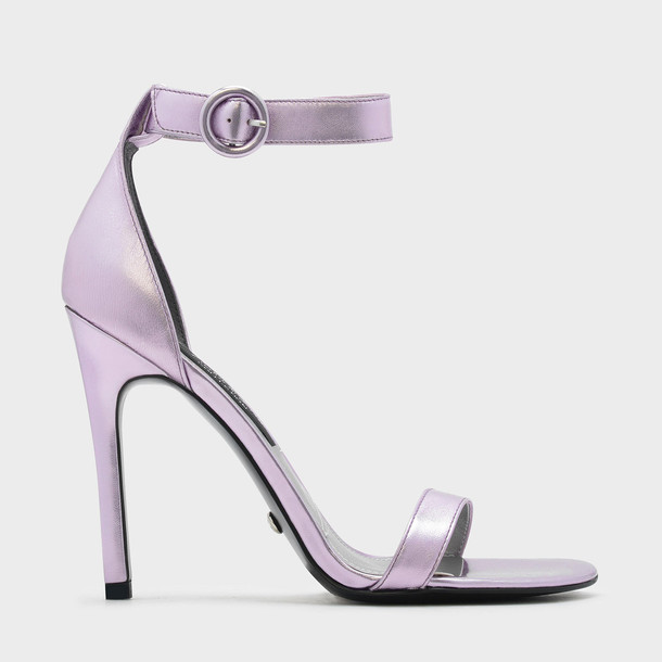 sandals leather lilac shoes