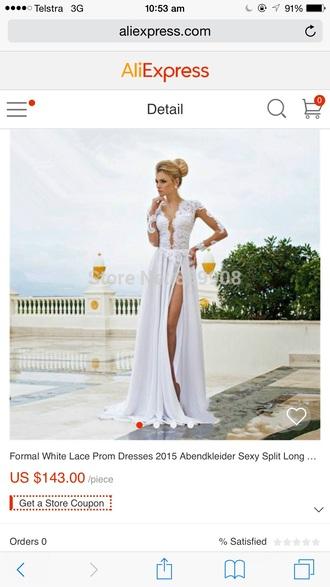 dress white dress lace dress long white formal dress where to buy it australia long white backless dress where to buy it from? long white prom dress