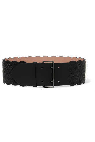 embellished belt waist belt leather black