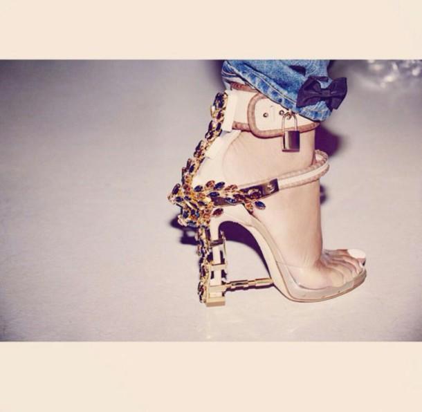 shoes heels gold nude rihanna d-squared high heel shoes nude heels embellished sandals high heel sandals high heels