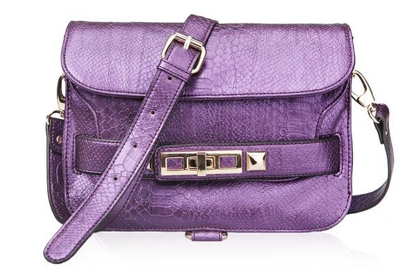 PS11 Python Shoulder Bag- Purple – Glamzelle