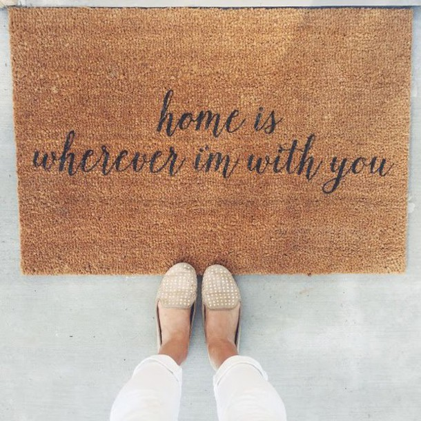 Carpet Quote: Home Accessory: Mat, Carpet, Quote On It, Love Quotes