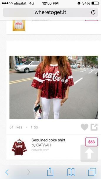 shirt coca cola sparkle tshirtt