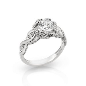 Amazon.com: rhodium plated round braided design cz engagement sterling silver 925 ring: jewelry