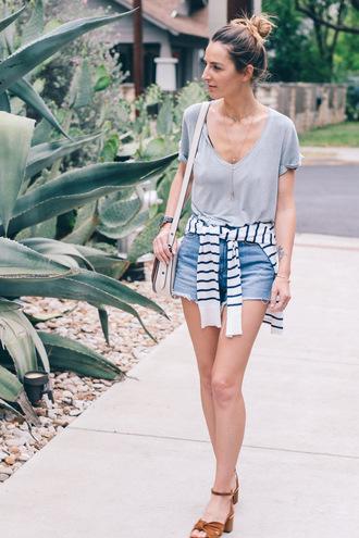 prosecco and plaid blogger shorts t-shirt sweater shoes bag jewels