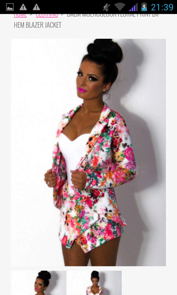 jacket flowered shorts tropical colorful