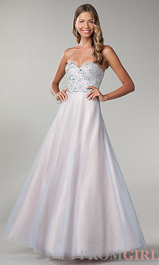 Strapless Ball Gown, Long Strapless Prom Dress B Darlin- PromGirl