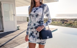 dress floral dress short dress blue white spring dress