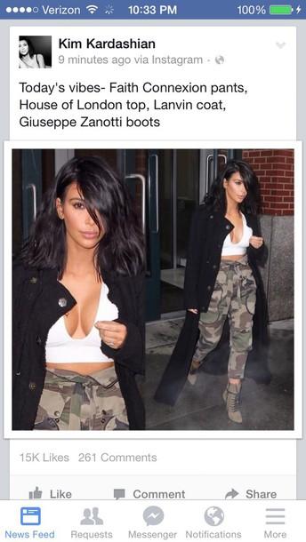 coat kim kardashian shoes pants