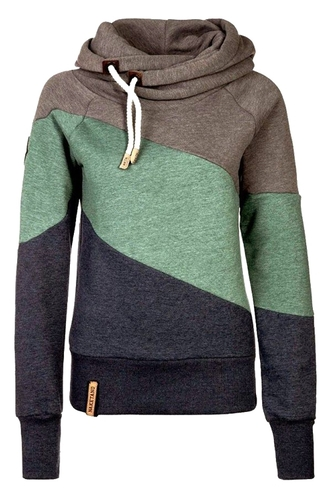 sweater jumper green blue grey mint navy style fashion fall outfits sporty turtleneck long sleeves cool casual warm cozy winter outfits sportswear clothes