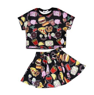 dress skirt top shirt summer food cute fashion style twin set
