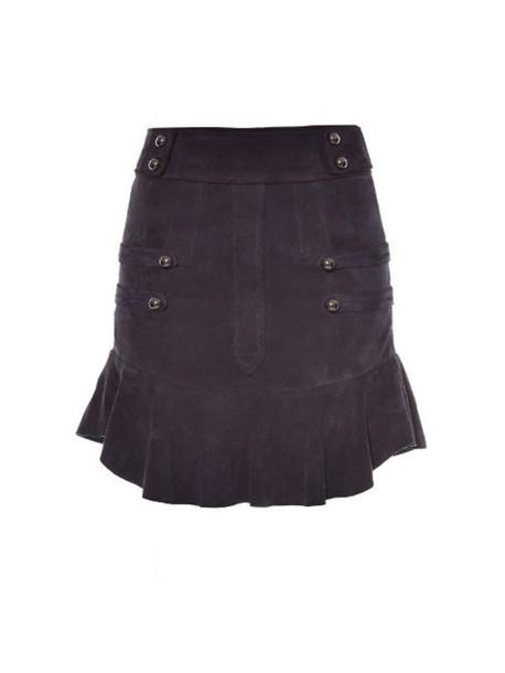 29b28e78ab Isabel Marant ISABEL MARANT Elena ruffle-trimmed suede mini skirt in black